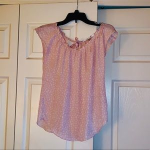 Lauren Conrad pleated pink blouse